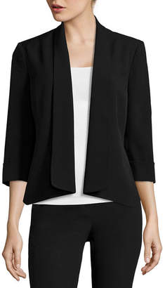 Evan Picone BLACK LABEL BY EVAN-PICONE Black Label by Evan-Picone 3/4-Sleeve Open-Front Jacket