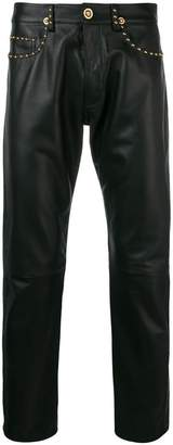 Versace straight studded trousers