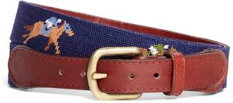 Brooks Brothers Needlepoint Horse Racing Belt