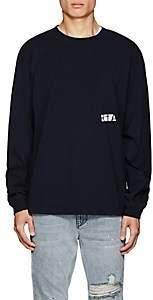 RtA Men's Graphic Cotton T-Shirt - Navy