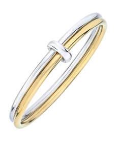Gold & Honey Two-Tone Bangle Bracelet