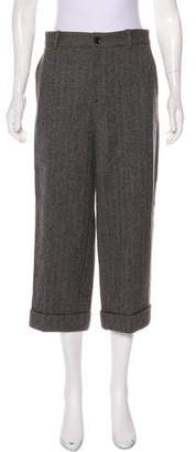 Gucci Wool Herringbone Cropped Pants