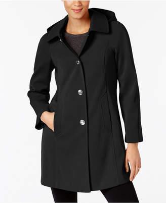 London Fog Hooded A-Line Raincoat $180 thestylecure.com