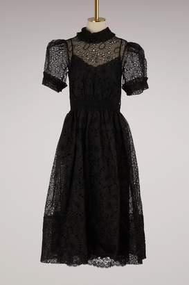 Simone Rocha Smocked Waist Dress