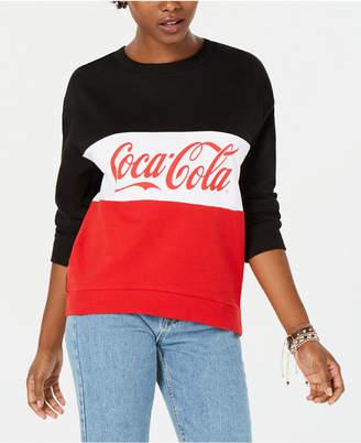 Freeze 24-7 Juniors' Coca-Cola Colorblock Sweatshirt