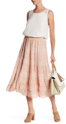 Joie Alima Long Pattern Silk Skirt $398 thestylecure.com