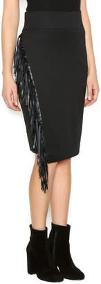 RD Style Black Fringe Skirt