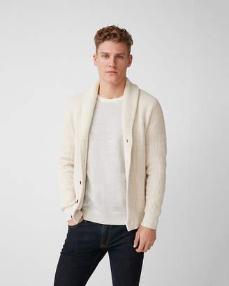 Express Mix Knit Shawl Collar Cardigan