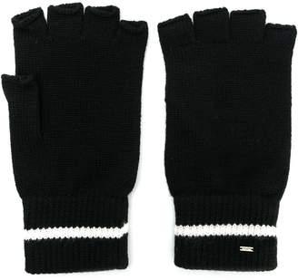 Saint Laurent fingerless wool gloves