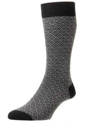 Pantherella Men's Porter Graphic Wool Socks
