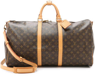 What Goes Around Comes Around Heritage Louis Vuitton Monogram Keepall 55 Bag $1,550 thestylecure.com