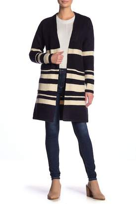 Just Madison Striped Long Sleeve Cardigan