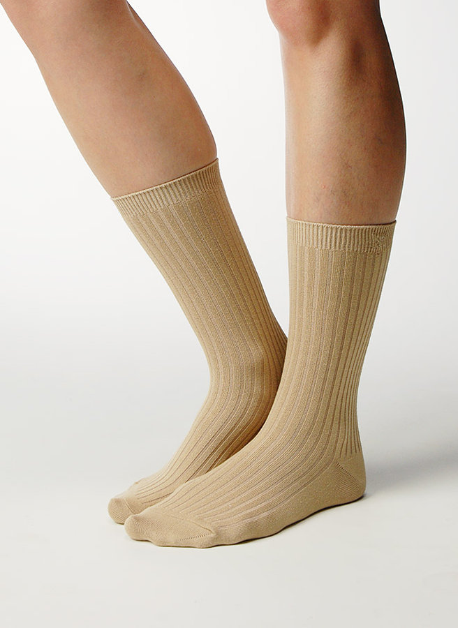 Rib Crew Socks infused with Aloe and Vitamin E - Assorted Colors