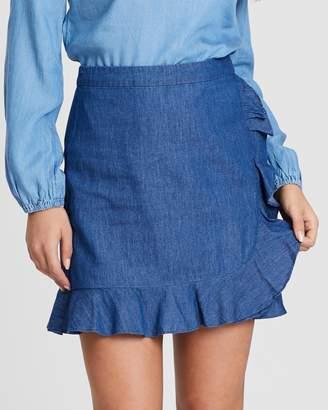 Oasis Ruffle Wrap Skirt