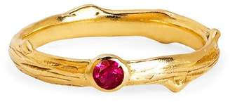 Johnny Was 14K Gold Rose Thorn Band With Single Ruby