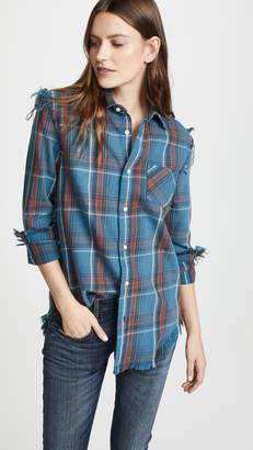 R 13 Shredded Seams Shirt