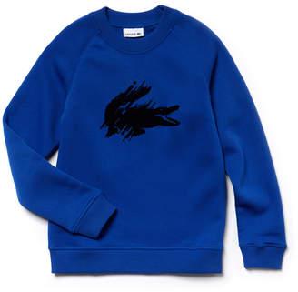 Lacoste (ラコステ) - BOYS フロック加工ワニ スウェットシャツ