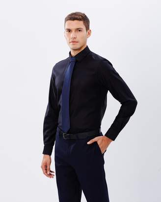 Brooksfield Plain Luxe Slim-Fit French Cuff Shirt