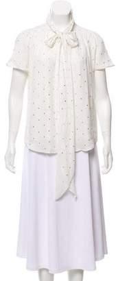 Marc Jacobs Silk Embellished Top