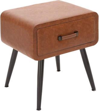 Uma Faux Leather Side Table