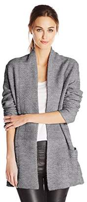 BCBGMAXAZRIA Women's Ginata Shawl Collar Open-Front Cardigan Sweater