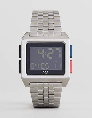 adidas Z01 Archive Digital Bracelet Watch In Silver