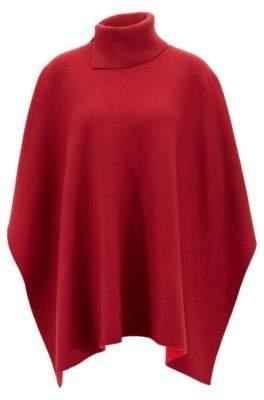 BOSS Hugo Shawl in virgin wool slit roll neck One Size Patterned
