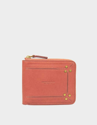 Jerome Dreyfuss Denis Wallet in Pink Lambskin