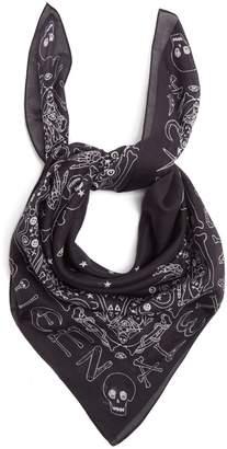 Alexander McQueen Skull-print cotton scarf
