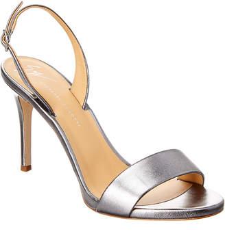 Giuseppe Zanotti Sophie Metallic Leather Slingback Sandal