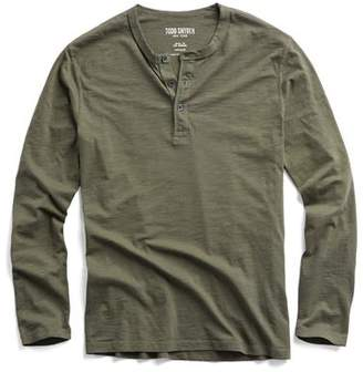 Todd Snyder Made in L.A. Long Sleeve Henley in Olive