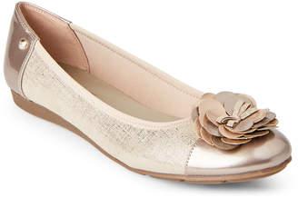 Anne Klein Platinum Sport Flower Ballet Flats