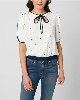 Juicy Couture ANCHOR EMBROIDERY TOP
