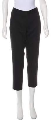Theory Linen Mid-Rise Straight-Leg Pants