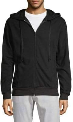 Zip-Up Embroidered Hoodie