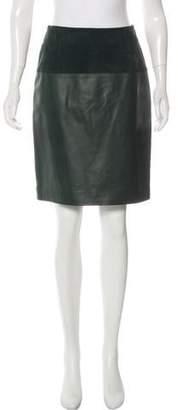 Balenciaga Leather Knee-Length Skirt