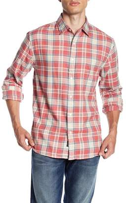 Faherty BRAND Organic Cotton Flannel Trim Fit Shirt