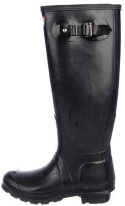 Hunter Rubber Round-Toe Knee-High Boots