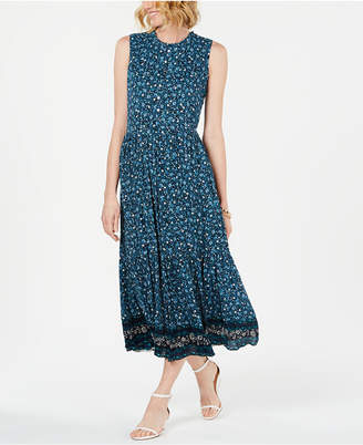 Style&Co. Style & Co Printed Sleeveless Tiered Maxi Dress