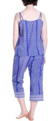 La Cera Cotton Capri Pajama