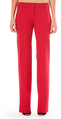Carolina Herrera Mid-Rise Side-Stripe Straight-Leg Stretch-Wool Tuxedo Pants