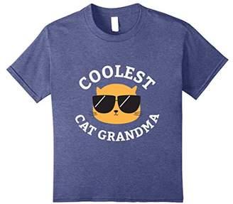Coolest Cat Grandma Shirt Funny Cat Mom Tee
