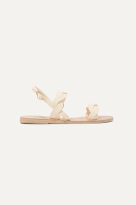Ancient Greek Sandals Plexi Leather Sandals - Off-white