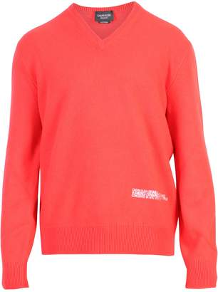 Calvin Klein Red Branded Sweater