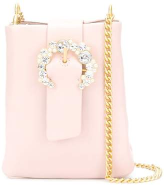 Tory Burch embellished buckle crossbody bag