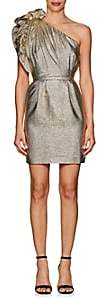 Stella McCartney WOMEN'S POLLY METALLIC ONE-SHOULDER COCKTAIL DRESS-GOLD SIZE 38 IT