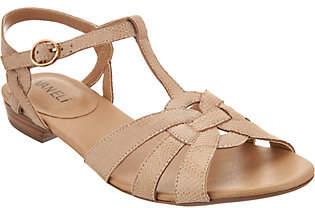 VANELi Leather Multi-Strap Sandals - Brandy