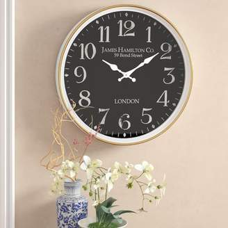 Alcott Hill Burg Contemporary London-Inspired Vintage Wall Clock