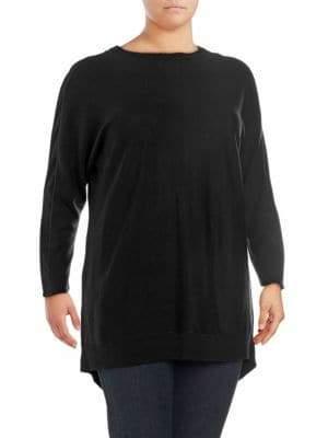 Plus Back Zip Sweater