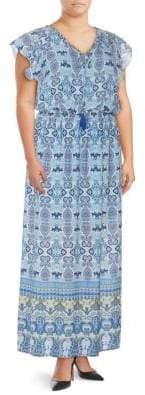 Adrianna Papell Plus Paisley Maxi Dress